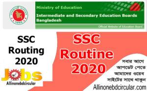 Submission Exam Routine 2020